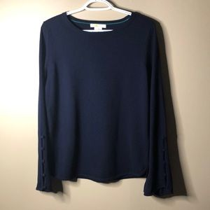 Boden crew neck sweater with button details